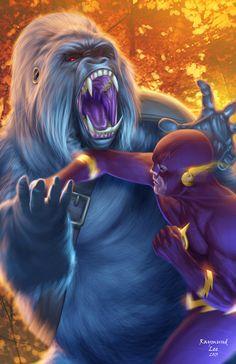 The Flash vs Gorilla Grodd by Raymund Lee