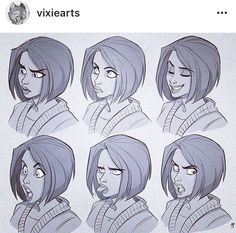 Manga Character Drawing Turns out making these expression-sheets was a great deal of fun, so here's… - Drawing Expressions, Facial Expressions, Character Drawing, Character Illustration, Drawing Techniques, Drawing Tips, Human Face Drawing, Expression Sheet, Chef D Oeuvre