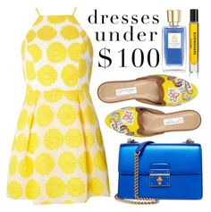 """Sun Yellow"" by minchu ❤ liked on Polyvore featuring Oscar de la Renta, Dorothy Perkins, Dolce&Gabbana, Lancôme and D.S. & DURGA"