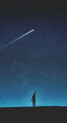 Desktop Wallpaper art night silhouette shooting star starry sky hd for pc & mac, laptop, tablet, mobile phone Night Sky Wallpaper, Wallpaper Space, Dark Wallpaper, Galaxy Wallpaper, Wallpaper Backgrounds, Wallpaper Lockscreen, Infinity Wallpaper, Sky Full Of Stars, Sky Art