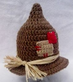 Crochet+Infant+Scarecrow+Hat+Photo+Prop+by+KnitWhittShop+on+Etsy,+$15.00