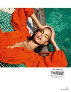 Orange Crush in Vogue India with Raica Oliveira wearing Christian Dior 45fd62f077e