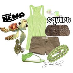 """""""Squirt (Finding Nemo)"""" by siriatejadapaola on Polyvore"""