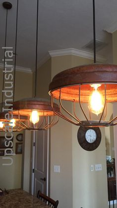 Ceiling Light/Chicken Feeder Pendant Light/Industrial Pendant Lighting/Steampunk/Farmhouse Chandelier/Kitchen Island Lighting/Rustic Light