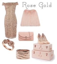 """""""All Rose Gold Everything"""" by lauryn-barnhart ❤ liked on Polyvore featuring Dune, Adrianna Papell, Effy Jewelry and Repossi"""