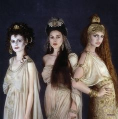 """The Brides of Dracula from """"Bram Stoker's Dracula"""", 1993. I adore the aged and fragile look of the costumes and the Byzantine Eastern Influence. Inspired designing."""