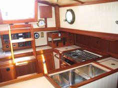 2001 Bristol Channel Cutter Sam L. Morse Sail Boat For Sale Sailboat Restoration, Bristol Channel, Sailboat Interior, Small Sailboats, Best Tiny House, Boats For Sale, Interior Design, Interior Ideas, Sailing