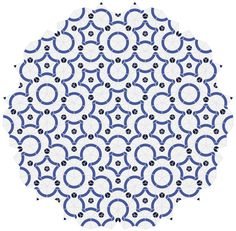 Rhombus Penrose tiling with arcs - Aperiodic tiling - Wikipedia, the free encyclopedia