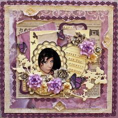 Daughters *Donna Salazar* - Scrapbook.com  --By Kaye222  ( 11-Mar-12.)--Wendy Schultz onto Scrapbook Projects.