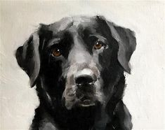 "Daily Paintworks - ""Black Labrador"" - Original Fine Art for Sale - © James Coates"