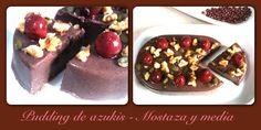 Mostaza y media: Pudding de azukis a la hierbabuena