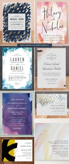 Artistic Abstract Wedding Invitations from Minted
