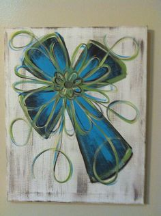 Distressed cross canvas painting by FaithfullyFramed on Etsy, $20.00 | best stuff
