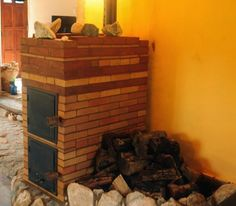 estufa rusa Stove Heater, Rocket Stoves, Earthship, Barbacoa, Sustainable Living, Firewood, Homesteading, Ideas Para, Diy And Crafts