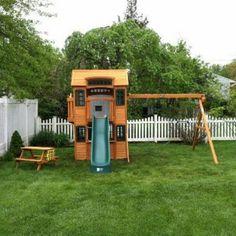 Cedar Summit Cedarview Resort Playset from Costco installed in Springfield, NJ.