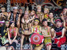Dayak People,  Kalimantan Island, Indonesia.