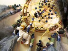 Horse Dancer's Handmade Ram Dream Catcher by jungleeyejoe on Etsy