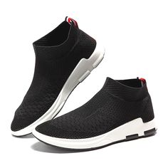 dbf0770ef27c2 Men Flyknit Mesh Fabric Breathable Sock Trainers Sport Casual Sneakers is  fashionable and cheap