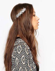 Image 1 ofASOS Occasion Floral Back Headband