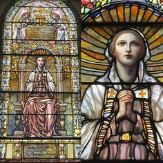 "Tiffany Glass and Decorating Company , ""The Valiant Woman,"" 1899 at  Trinity Church, Newport, Rhode Island.  In memory of Mary Rhinelander Stewart."