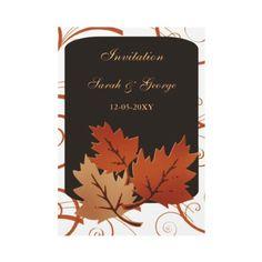 autumn wedding wedding invitations