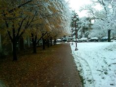 University of Denver's first snow of 2012