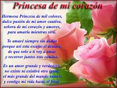 Princesa de mi corazón ♥ #poema #amor #princesa #chica #love #girl #guy #couple #frases #texto