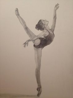 dancing drawings Ballet Practice by JMichelleW Girl Drawing Sketches, Cool Art Drawings, Pencil Art Drawings, Beautiful Drawings, Easy Drawings, Beautiful Pictures, Ballet Drawings, Dancing Drawings, Ballerina Kunst