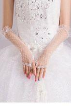 Kapalı siyah/beyaz sırf çukur tığ dirsek uzunlukta eldiven lc73125 uzun parmaksız eldiven zarif dantel eldiven(China (Mainland))