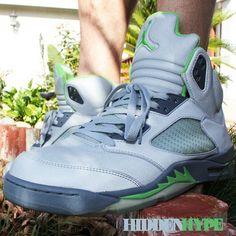 Air Jordan 5 Green Beans