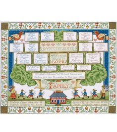 Tobin Counted Cross Stitch Kit Family Tree