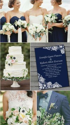 elegant country rustic navy blue wedding ideas