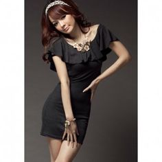 Women's Pure Cotton Flounce Scoop Neck Sleeveless Dress Without Belt, DEEP GREY/GRAY in Casual Dresses | DressLily.com