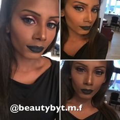 Black Liquid lipstick stay on forever ❤️ Follow on Instagram: @beautybyt.m.f