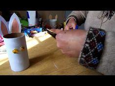 Conejo en un tubo o cilindro de papel higienico para Pascua de resurrección - YouTube