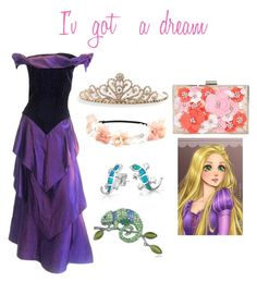 """Repunzle"" by mercy123 ❤ liked on Polyvore featuring Disney, Arnold Scaasi, Bling Jewelry, New Look and BillyTheTree"