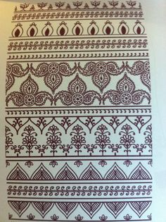 mehndi designs: borders