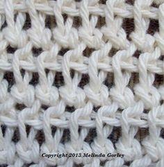 Tunisian mesh stitch
