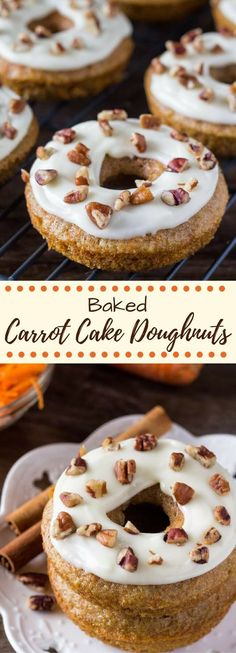 These baked carrot cake doughnuts have all the flavor of your favorite carrot cake with cream cheese frosting, but in doughnut form. These homemade doughnuts are so easy