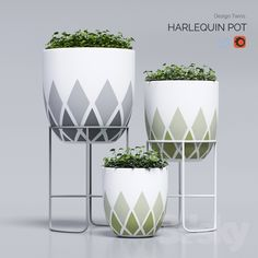 harlequin pot Model available on Turbo Squid, the world's leading provider of digital models for visualization, films, television, and games.