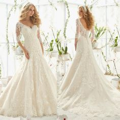 Vestidos De Novia 2016 Latest Designs Wedding Gowns V Neckline Long Sleeve Lace Mermaid Wedding Dress Bride Dresses M51