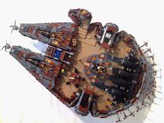 LEGO Steampunk Millenium Falcon by markus19840420 Winner of Steam Wars Return