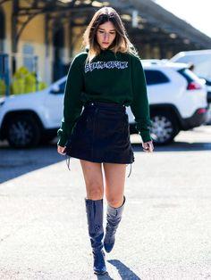 Einen schönen Fashion-Kontrast setzt Fashion-It-GirlChiara Capitani indem…