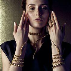 Paula Mendoza Nereus Bracelet x 2 Glaucus Necklace Double Adriane Ring