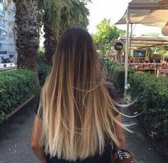 Long hair with Balayage and Ombré