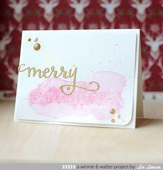 Merry Christmas card - new Creative Screenings from Winnie & Walter! #winnie&walter #christmas #watercolor