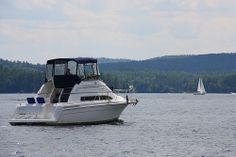 I'd like to have a cabin cruiser to travel on for about a year.  Wouldn't that be fun?