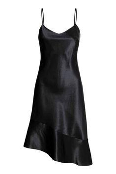 Silk dress - Black - Ladies | H&M GB