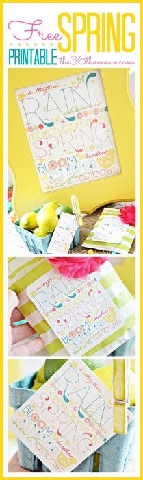 The 36th AVENUE   Free Spring Printables