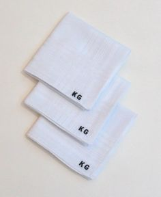 Classic Mens Handkerchiefs. Gift Set of 3 Hankies Personalised with  initials or a name! | Personalised Handkerchiefs | Pinterest | Handkerchiefs